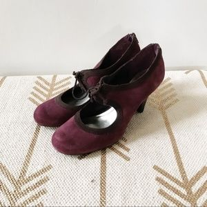 Style & co Teresa purple suede Mary Jane pumps